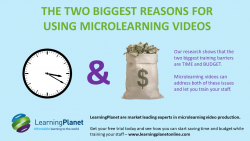 Reasons for using microlearning videos